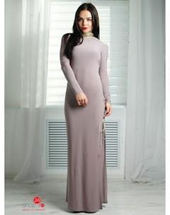 Платье цвет бежевый Fashion club