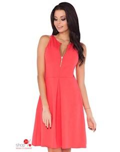 Платье цвет коралловый Rawear