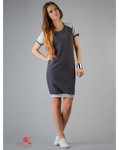 Платье цвет темно серый светло серый Rawear