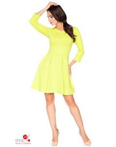 Платье цвет желтый Rawear