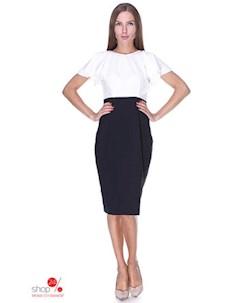 Платье цвет черный белый Kireya
