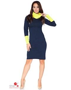 Платье цвет темно синий желтый Rawear