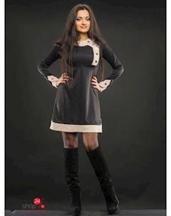 Платье цвет черный бежевый Dream dress