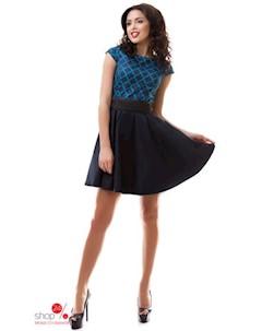 Платье цвет темно синий зеленый Dioriss