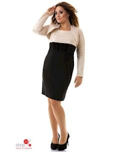 Платье цвет бежевый черный Dioriss