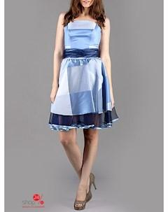 Платье цвет светло голубой черный Lejole