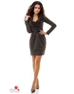 Платье цвет темно серый Dioriss