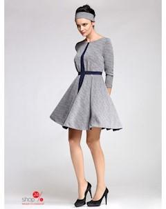 Платье цвет серый темно синий Kiara