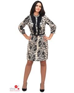 Платье цвет белый черный Ladystyle