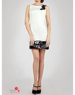 Платье цвет белый черный O.jen