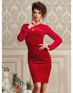 Платье цвет красный Люше