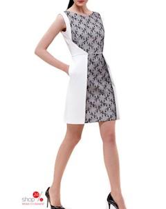 Платье цвет белый черный Kiara