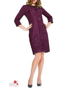 Платье цвет бордовый Mara