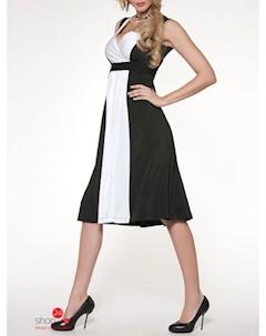 Платье цвет черный белый O.jen