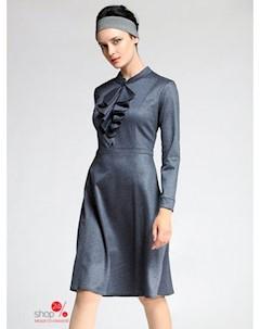 Платье цвет темно серый Kiara