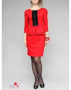 Платье цвет красный Lejole