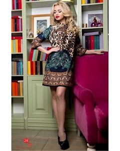Платье цвет изумрудный коричневый Swirlbyswirl