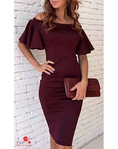 Платье цвет бордовый Jera kristina