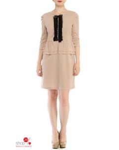 Платье цвет бежевый Lejole