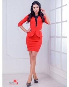 Платье цвет красный Marafett
