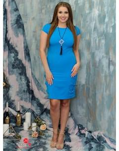 Платье цвет синий Marafett