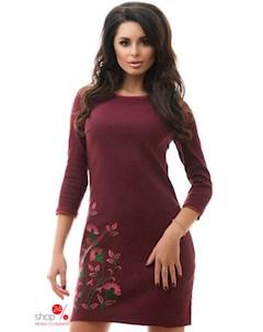 Платье цвет бордовый Tivardo