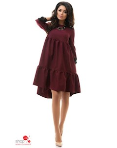 Платье цвет бордовый Dioriss