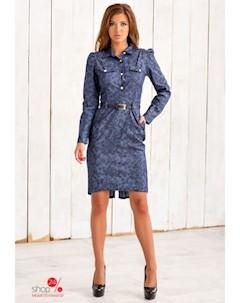 Платье цвет синий черный Charm