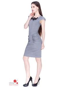 Платье цвет серый Marafett