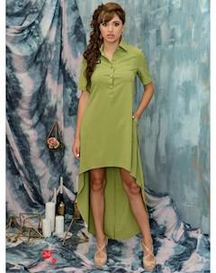 Платье цвет оливковый Marafett