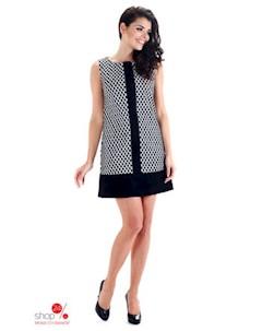 Платье цвет черный белый Simmi