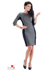 Платье цвет серый Simmi
