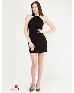 Платье цвет черный Mango