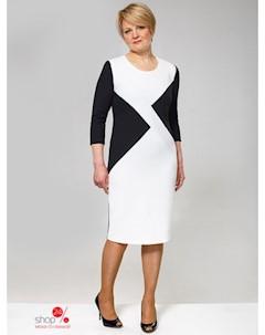 Платье цвет черный белый Simas