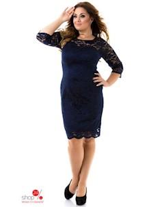 Платье цвет темно синий Tivardo