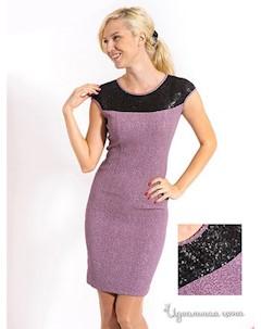 Платье цвет сиреневый черный Lira