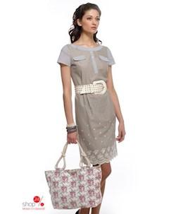 Платье цвет серый Bravissimo