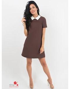 Платье цвет темно коричневый Hokkoba