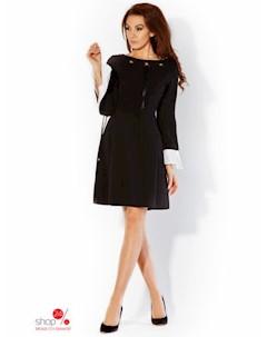 Платье цвет черный экрю Rylko by agnes & paul
