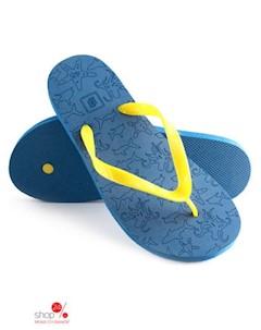 Вьетнамки цвет синий желтый Evars