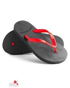 Вьетнамки цвет черный красный Evars