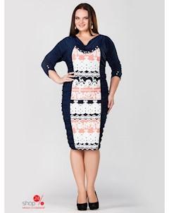 Платье цвет темно синий белый коралловый Milori