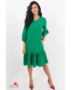 Платье цвет зеленый Hokkoba