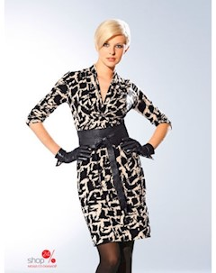 Платье Laurel цвет черный экрю рисунок Wenz