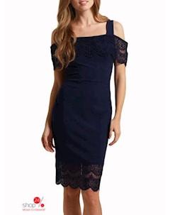 Платье цвет темно синий Flora luna