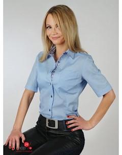 Рубашка цвет ярко голубой Oxane