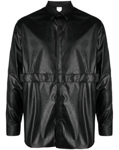 Рубашка из искусственной кожи с длинными рукавами Attachment