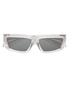 Солнцезащитные очки в прозрачной оправе Rick owens