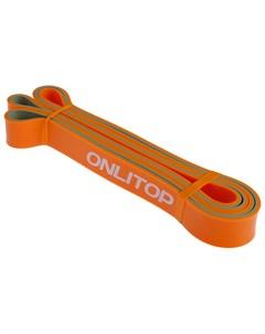 Эспандер ленточный многофункциональный 208 х 2 9 х 0 45 см 11 36 кг цвет оранжевый чёрный Onlitop