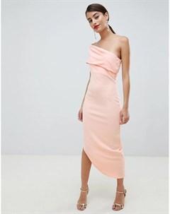 Асимметричное платье на одно плечо City goddess